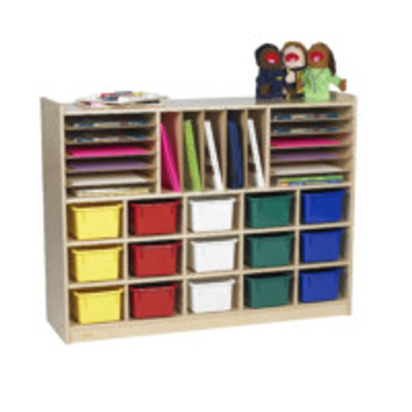 Value Line® Birch Multi-Section Storage with Multi-Colored Trays