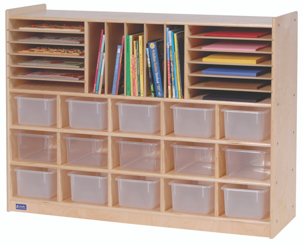 Value Line® Birch Multi-Section Storage with Opaque Trays