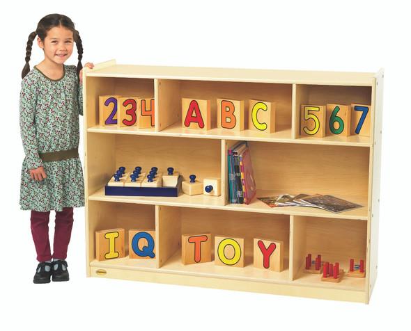 """Value Line® Birch 36""""H Mobile Divide 3-Shelf Storage"""