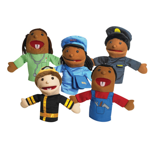 """10"""" Career Puppets with Movable Mouths - Set of 5"""