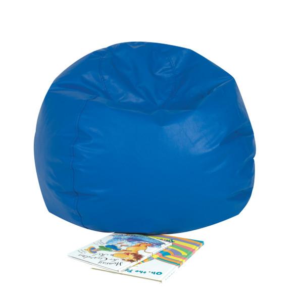 """26"""" Round Bean Bag - Blue"""