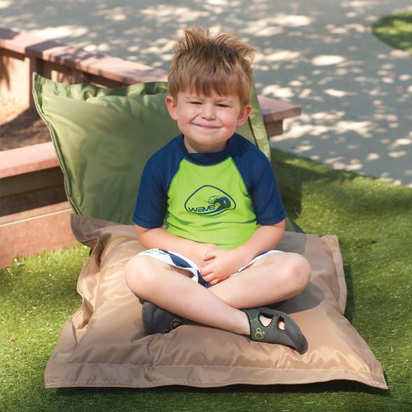 Indoor/Outdoor Pillow Set - Forest Green & Tan