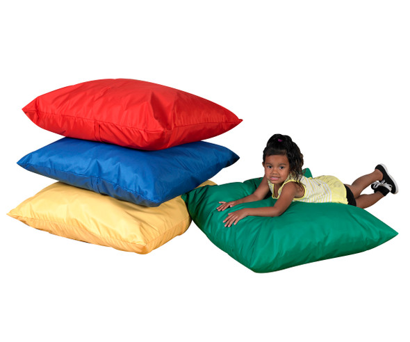 """27"""" Cozy Floor Pillows - Primary Set of 4"""