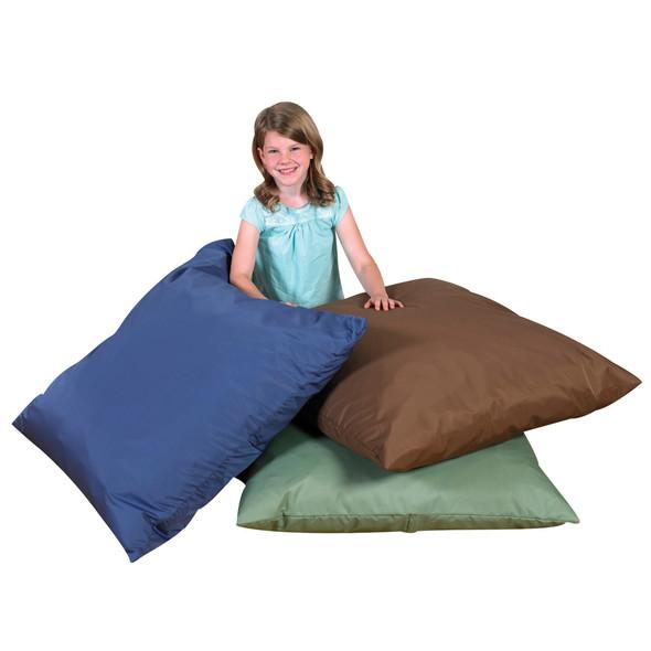 "27"" Cozy Floor Pillows - Dark Woodland Set of 3"