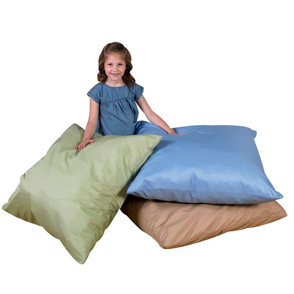 "27"" Cozy Floor Pillows - Light Woodland Set of 3"