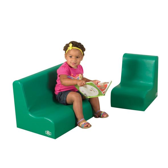 Little Tot Contour Seating Set - Green 2 Piece