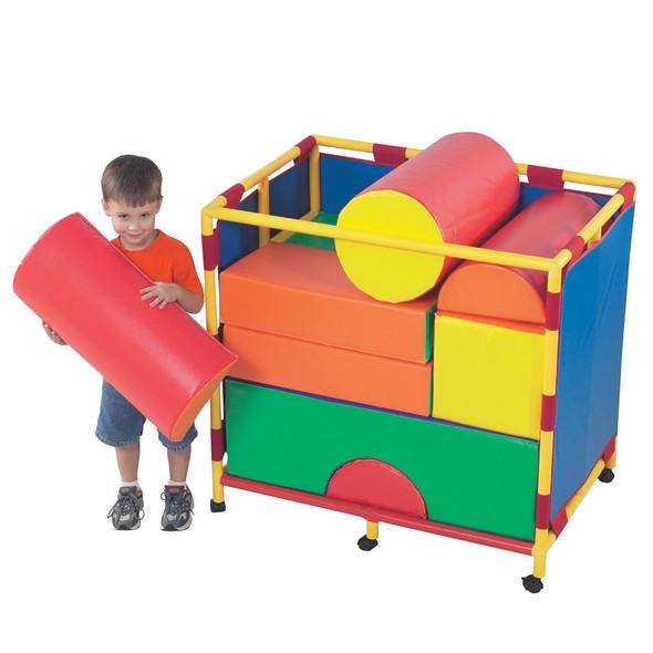Soft Big Block Trolley - Set B