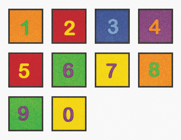 10 Squares Numbers 0-9