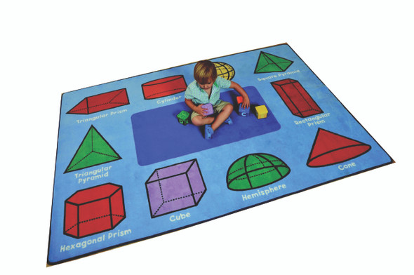 3D Geometric Shapes Rug - Rectangular Small