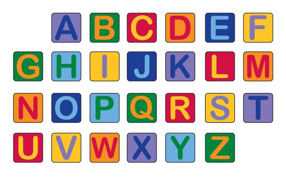 Alphabet Seating Squares - Set of 26