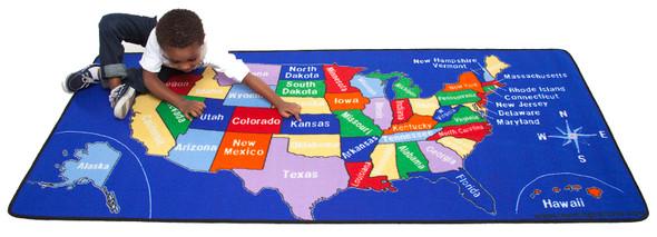 US Map Carpet