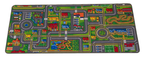 Giant Road Map Playful Rug