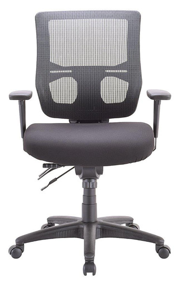 Eurotech Apollo II MFST5455 Mid Mesh Back and Fabric Seat Black Chair