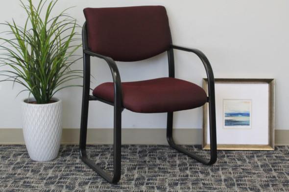 Boss Burgundy Fabric Guest Chair