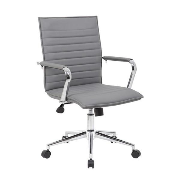 Boss Grey Vinyl Hospitality Chair