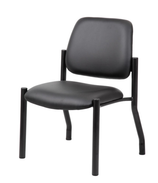 Boss Antimicrobial Armless Guest Chair, 300 lb. weight capacity