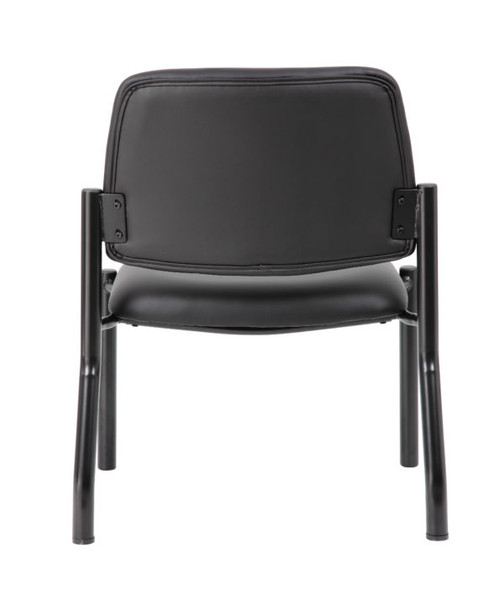 Boss Antimicrobial Armless Guest Chair, 400 lb. weight capacity
