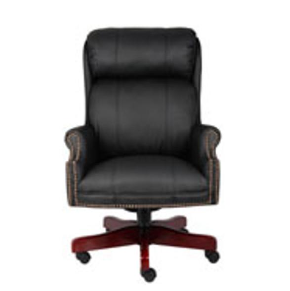 Boss Traditional High Back CaressoftPlus Chair W/Mahogany Base