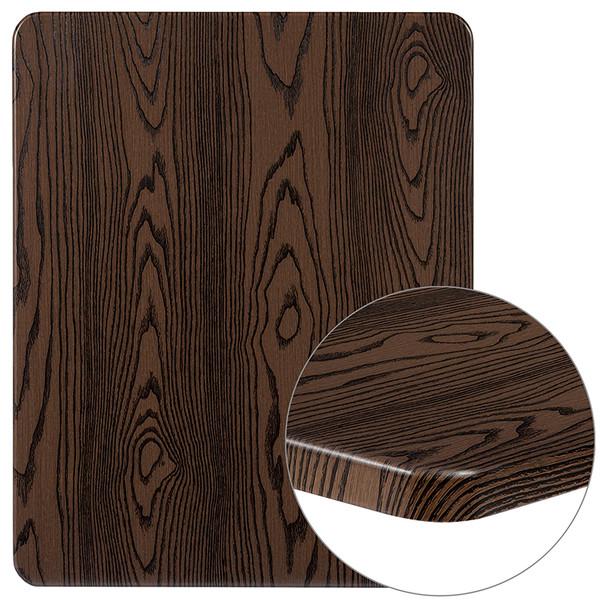 """24"""" x 30"""" Rectangular Rustic Wood Laminate Table Top"""