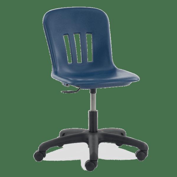Metaphor Series Task Chair, Navy Bucket, Black Frame