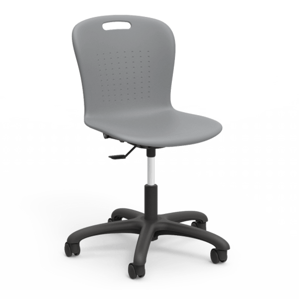 Sage Series Task Chair, Graphite Bucket, Black Frame
