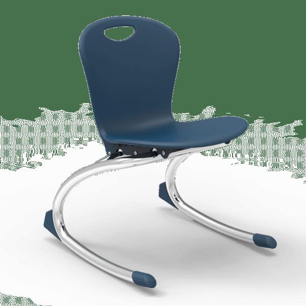 Virco ZUMA Series ZROCK Classroom Rocking Chairs, Chrome Frame