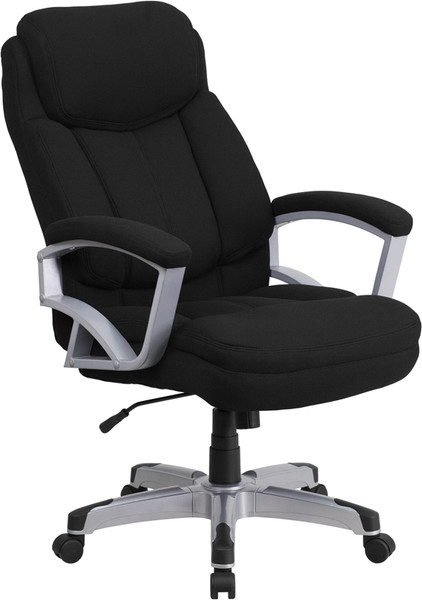 TYCOON Series Big & Tall 500 lb. Rated Black Fabric Executive Swivel Ergonomic Office Chair with Arms