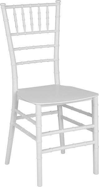 TYCOON Series White Resin Stacking Chiavari Chair