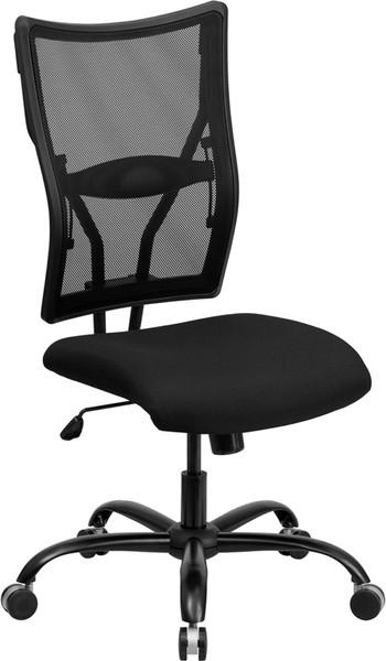 TYCOON Series Big & Tall 400 lb. Rated Black Mesh Executive Swivel Ergonomic Office Chair