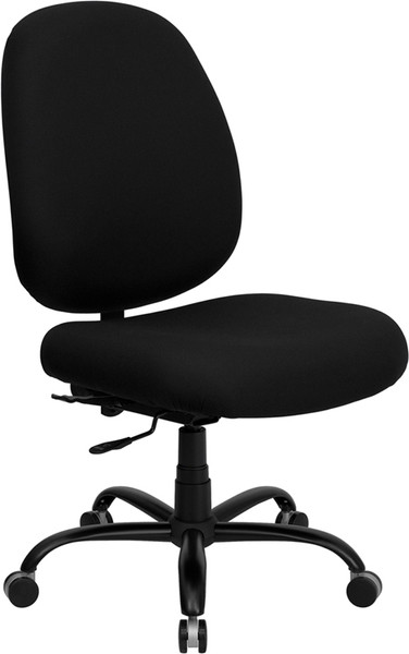 TYCOON Series Big & Tall 400 lb. Rated Black Fabric Executive Swivel Ergonomic Office Chair with Adjustable Back
