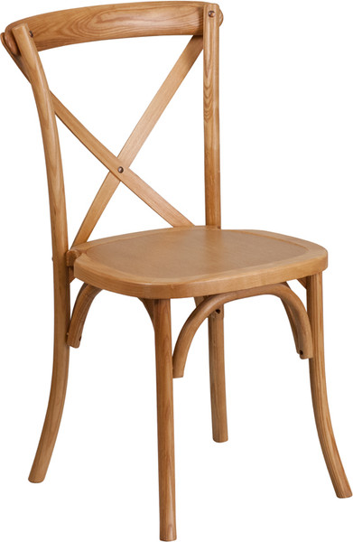 TYCOON Series Stackable Oak Wood Cross Back Chair
