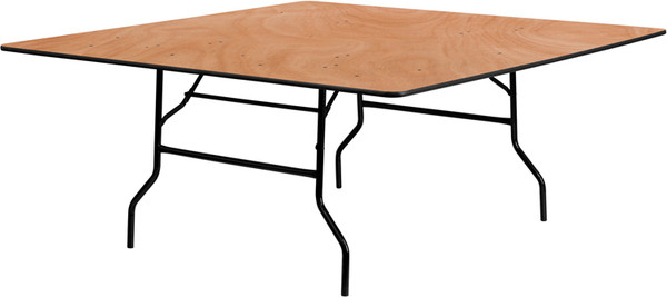 72'' Square Wood Folding Banquet Table