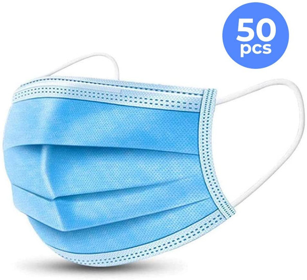 3 PLY Disposable Face Mask - 50 Count