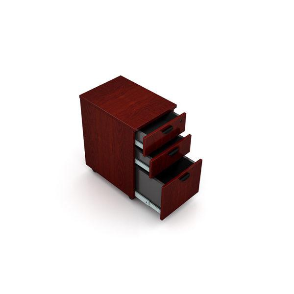 Boss Mobile Pedestal Box/Box/File, Honey Comb Packing, Mahogany