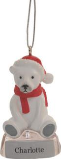 Personalised Christmas Polar Bear Decoration *ANYNAME*
