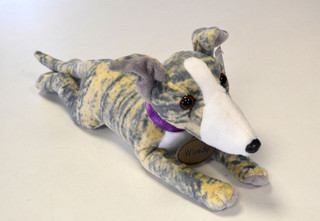 Blue Brindle Greyhound Soft Toy - Wendy