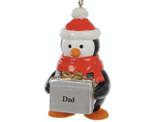 Cute Penguin Christmas Tree Decoration Ornament Bauble *ANYNAME*               BUY ONE GET ONE FREE