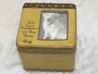 Pet Memorial Dog Photo Box Sentiment Keepsake Gift