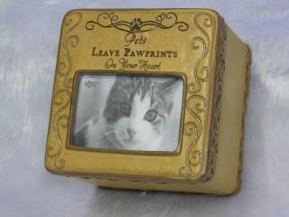 Pet Memorial Cat Photo Box Sentiment Keepsake Gift