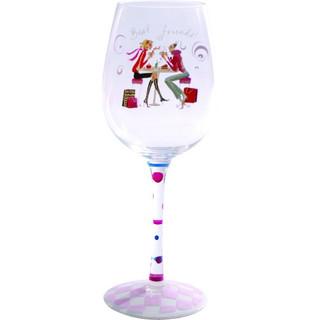 Best Friends 14oz Wine Glass by Suki Gifts