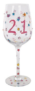 21st Birthday Wine Glass Gift Boxed 19028