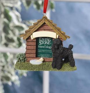 Black Poodle Personalised Magnet/Decoration