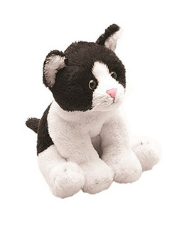Suki Yomiko Sitting Black And White Cat - Soft Toy Kitten by Suki Gifts
