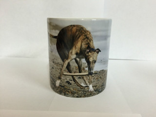 Beach Greyhound Ceramic Mug