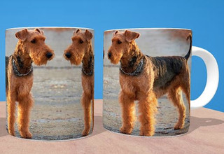 Airedale Terrier Mug and Coaster Set