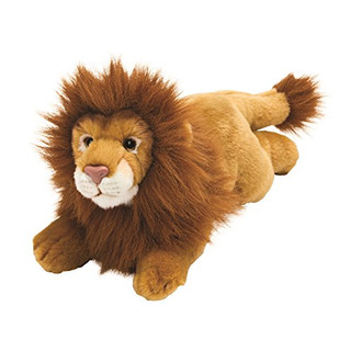 Suki Gifts Yomiko Classics Jungle and Wildlife Lying Lion (Medium, Brown)