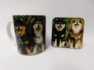 Finnish Lapphund Dog Mug and Coaster Set