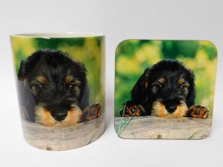 Dachshund Dog Mug and Coaster Set