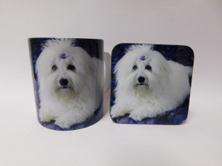 Coton De Tulear Dog Mug and Coaster Set