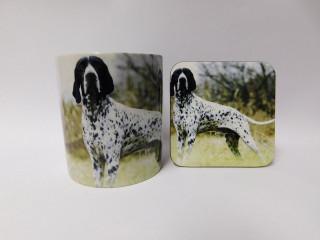 Braque D'Auvergne Dog Mug and Coaster Set